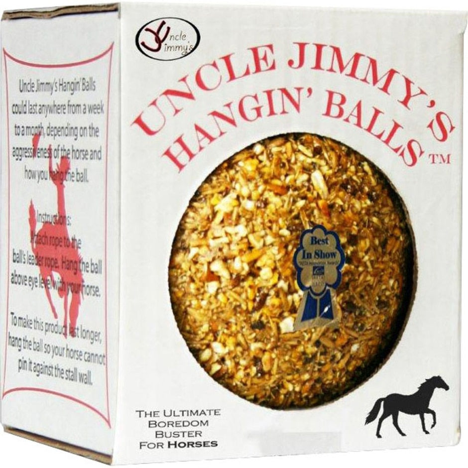 UNCLE JIMMY'S HANGIN' BALL TREATS FOR HORSES