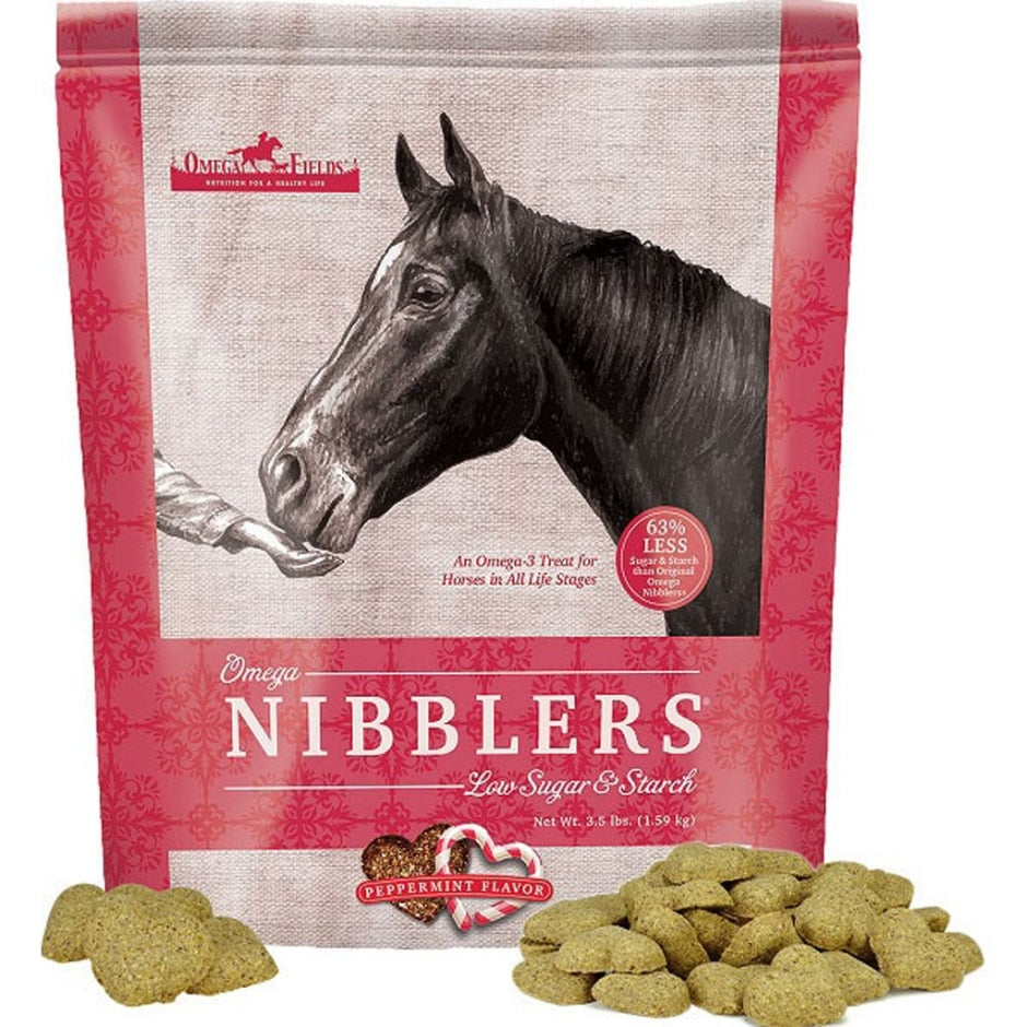 OMEGA NIBBLERS LOW SUGAR AND STARCH PEPPERMINT