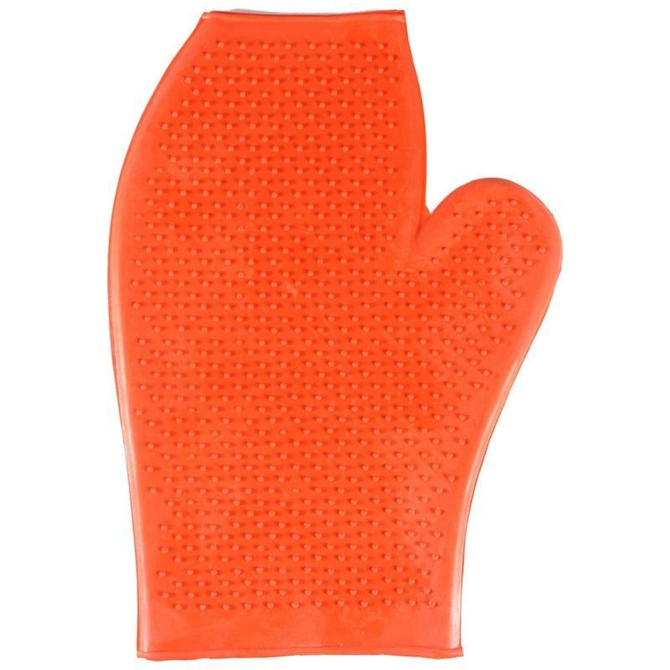 RUBBER GLOVE MASSAGE MITT FOR HORSES
