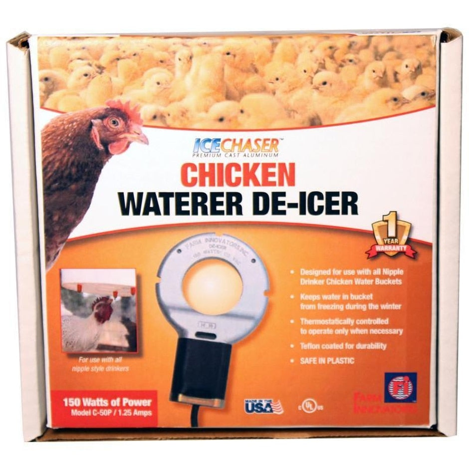 CHICKEN WATERER DEICER FOR NIPPLE-STYLE DRINKERS