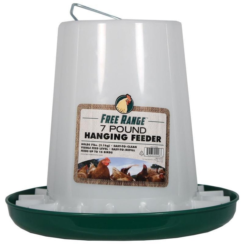 FREE RANGE PLASTIC HANGING POULTRY FEEDER