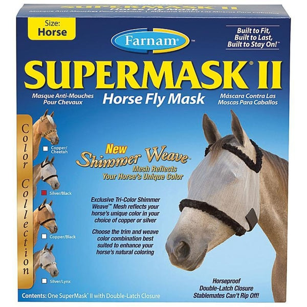 FARNAM SUPERMASK II COLORED HORSE FLY MASK WITHOUT EARS