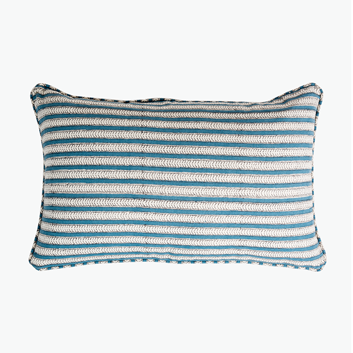 Paradise Featherstripe Cushion