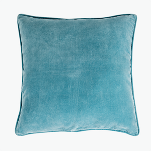 Paradise Lagoon Blue Velvet Cushion