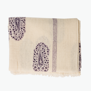 Paradise Paisley Purple Wool Throw