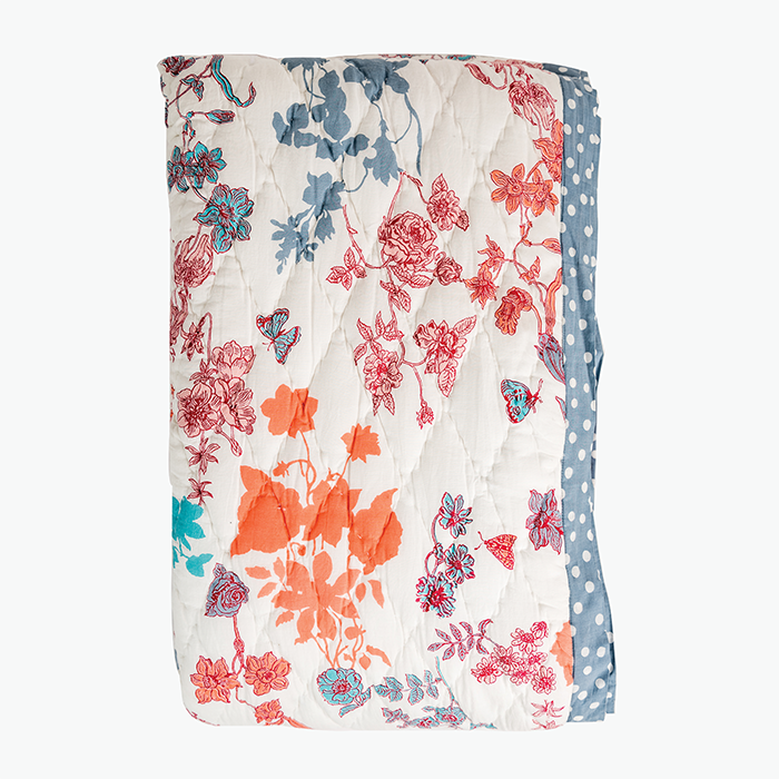 IYFP Coral Reversible Quilt