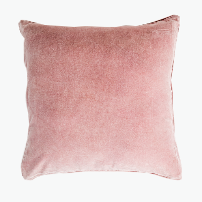 Paradise Blush Shell Pink Velvet Cushion
