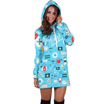 Nurse Heartbeat Hooded Dress