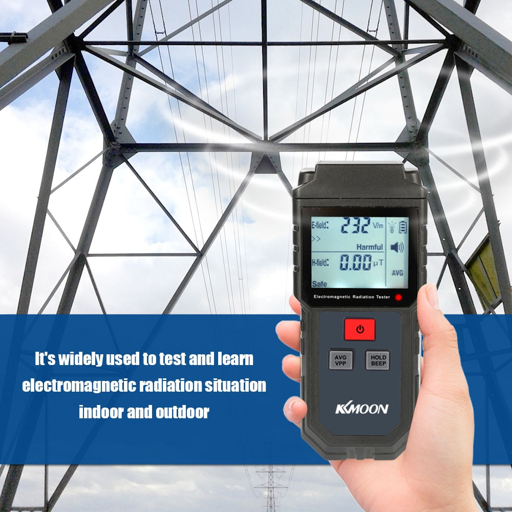 Handheld Digital LCD EMF Meter Electromagnetic Radiation Tester