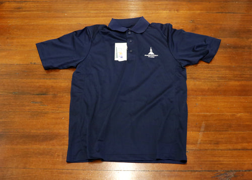 Navy Embroidered Polo Shirt (Extreme Performance)