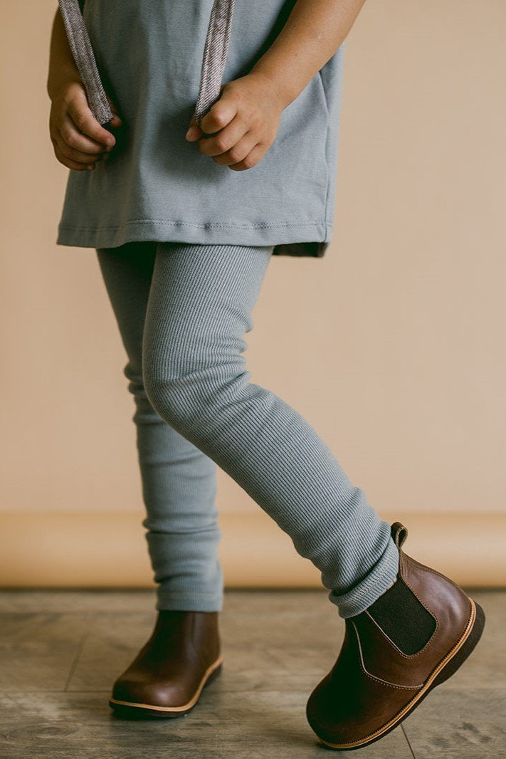 Rib Leggings - Moon mist