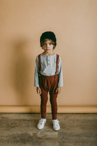 Suspender pants - Redwood