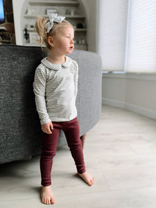 Ribbed Leggings - Port Royale