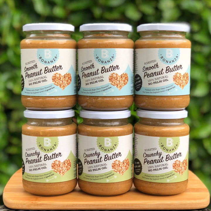 6 x 350g Mixed Peanut Butter