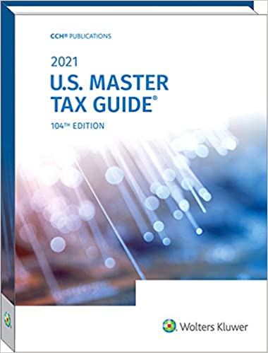 2021 US Master Tax Guide (TAX147) - 24 CPE Hours