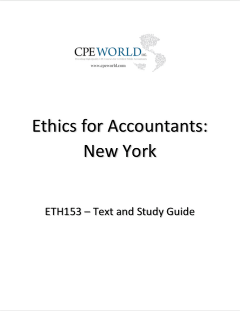 Ethics for Accountants New York - 4 CPE Hours (ETH153)