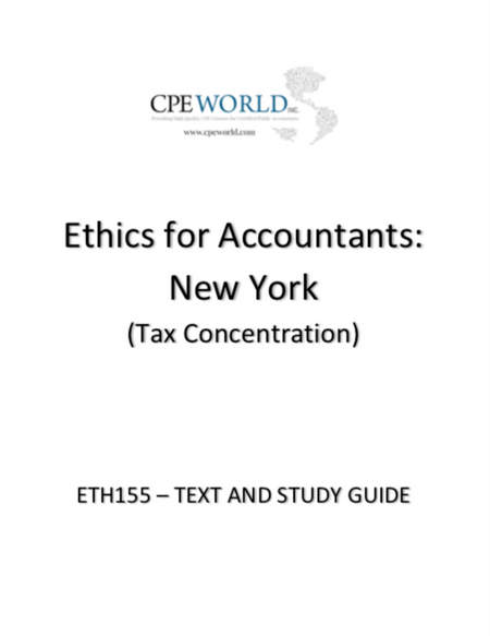 Ethics for Accountants: New York (Tax Concentration) - 4 CPE Hours (ETH155)