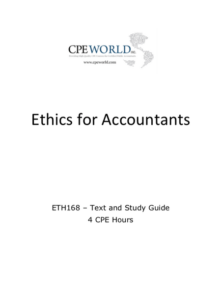 Ethics for Accountants - 4 CPE Hours (ETH168)