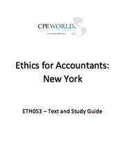 Ethics for Accountants: New York - Accounting Concentration - 4 CPE Hours (ETH053)