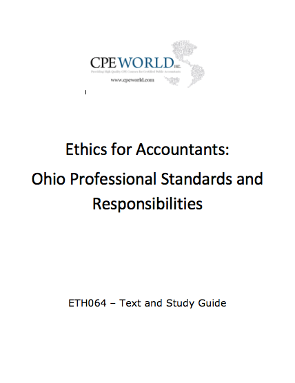 Ethics for Accountants: Ohio Professional Standards and Responsibilities (ETH064)