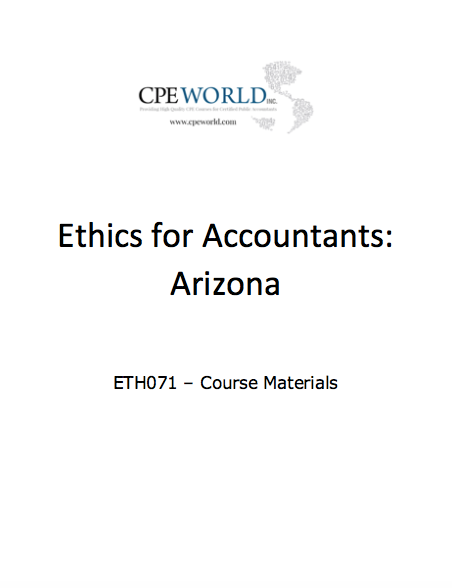 Ethics for Accountants: Arizona - 4 CPE Hours (ETH071)