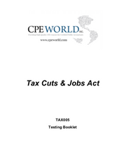 Tax Cuts and Jobs Act - 4 CPE Hours (TAX005)