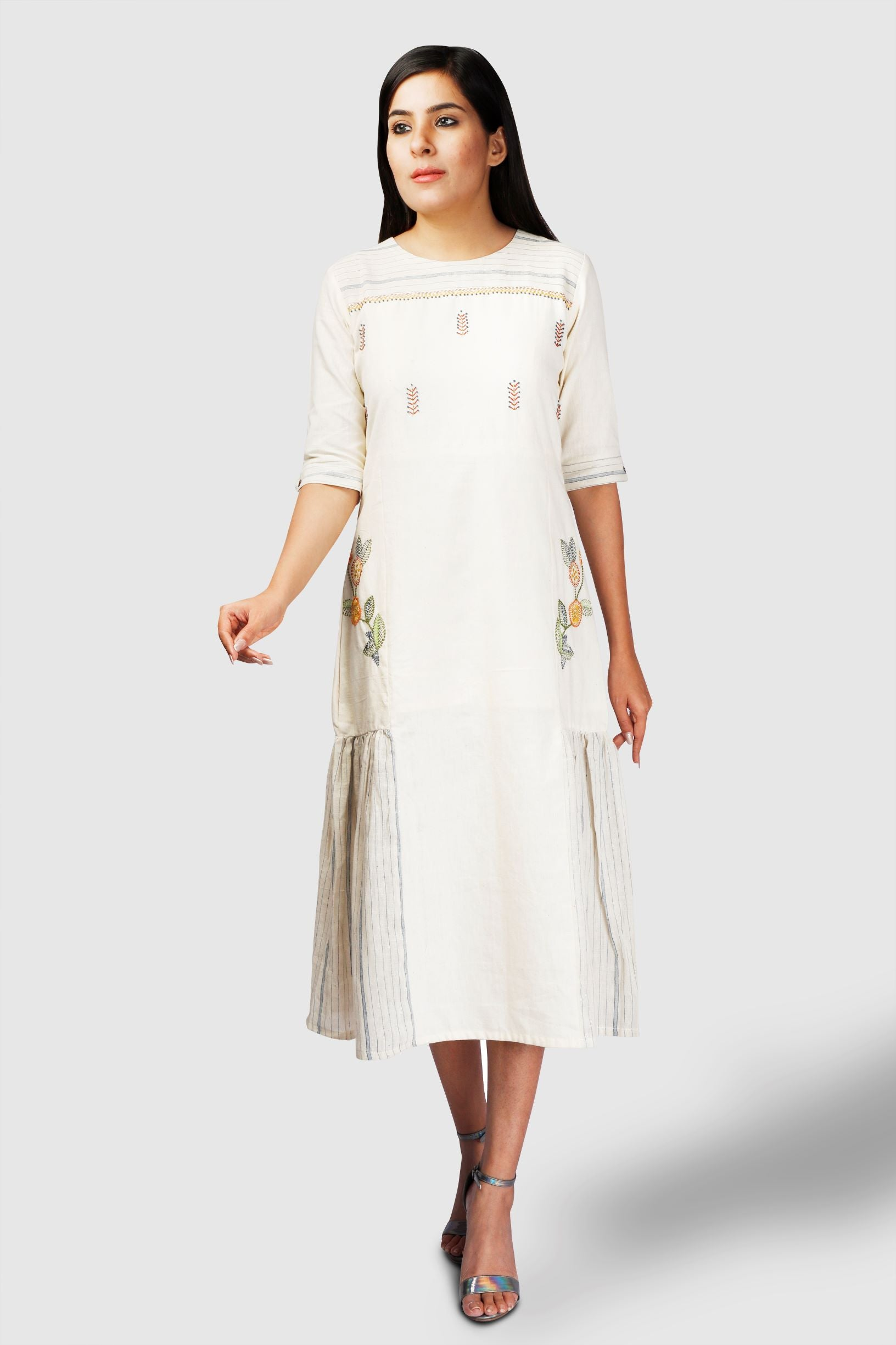 Kala Cotton Embroidery Dress - Kapaas N Resham