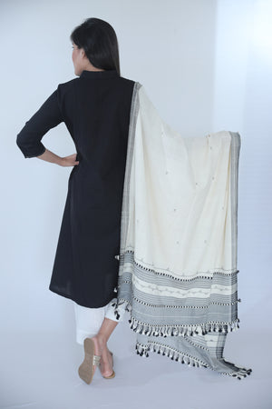 Embroidered Kurta - Black - Kapaas N Resham