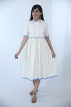 Khadi Dress- Off White - Kapaas N Resham