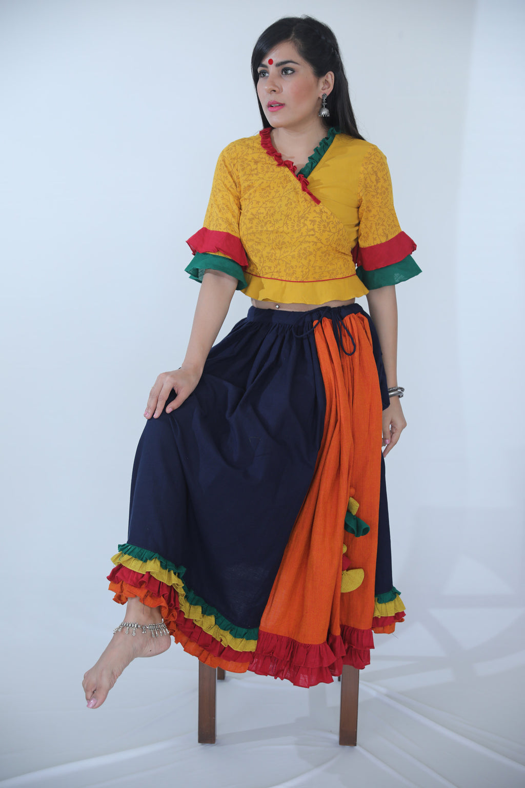 Skirt- Navy Blue - Kapaas N Resham