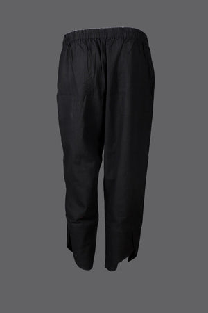 Black Embroiered Harem Pants - Kapaas N Resham