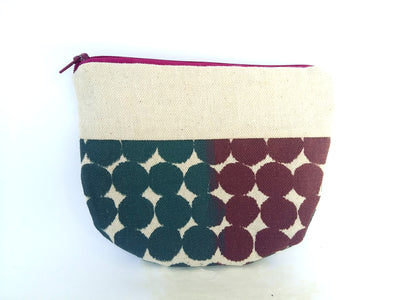 Rose Grey Pouch with Polka Dot Print