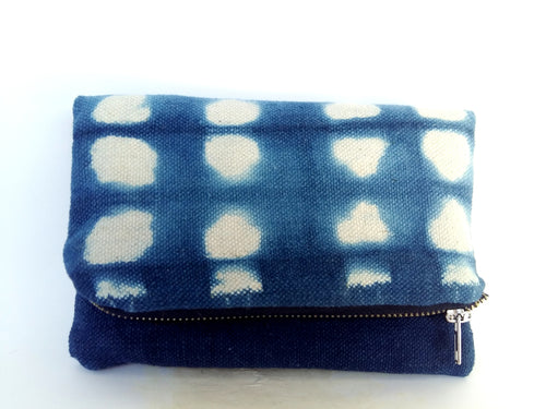 Indigo Fold-Over Clutch