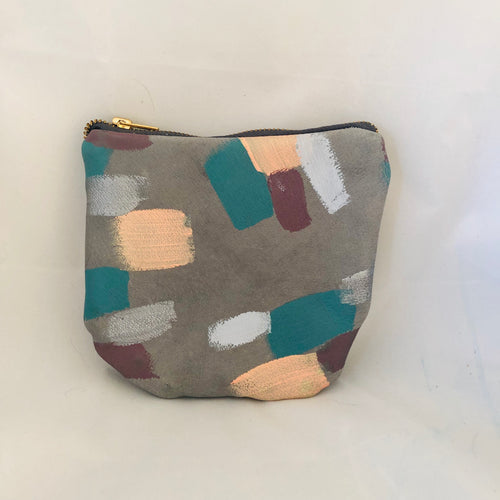 Painted Leather Pouch