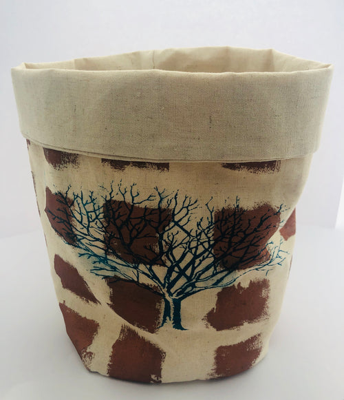 Bronze Tree Fabric Bucket