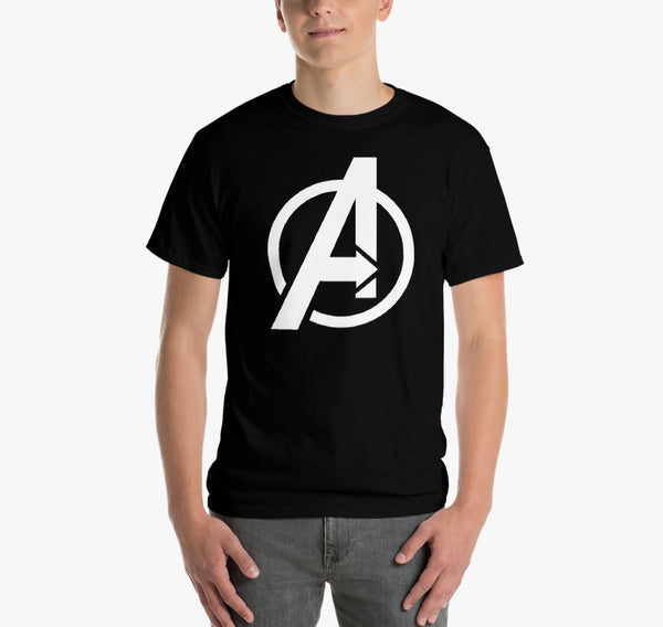AVENGER COTTON BLACK T-SHIRT