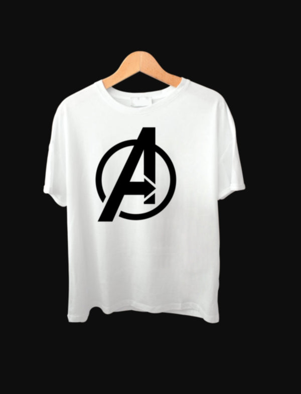 AVENGER COTTON WHITE T-SHIRT