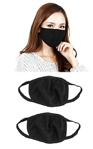 Black Cotton Mask Washable