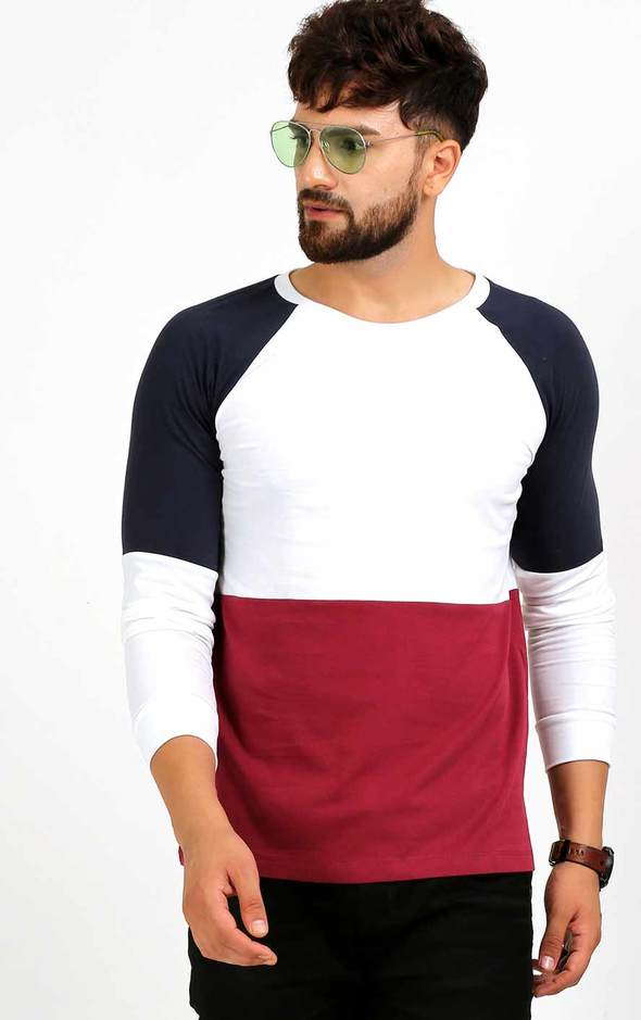 STYLISH ROUND NECK FULL SLEEVE T SHIRT