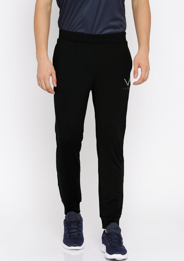 Solid Men Black Jogger's
