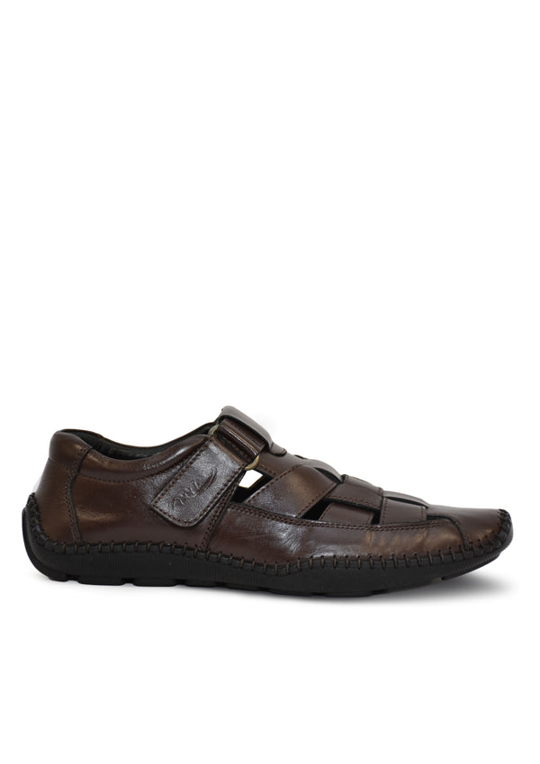 Men Brown Classic Style,Outdoor Adjustable Summer Sandal Shoes