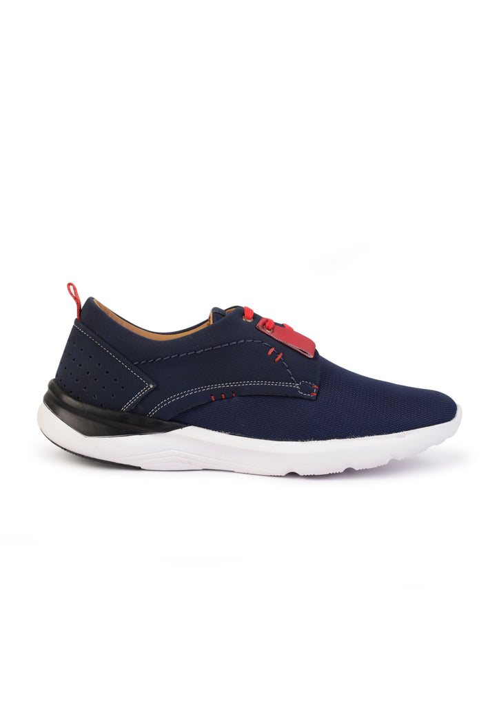 Contrast Casuals For Men (Blue-Red)