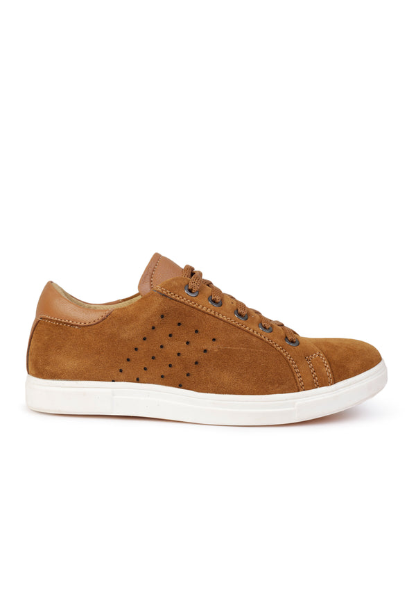 Suede Wagon Tan Casual Men's Shoes