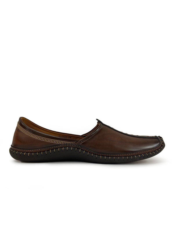 Kolhapuri Juttis Mojaris For Men(Brown)
