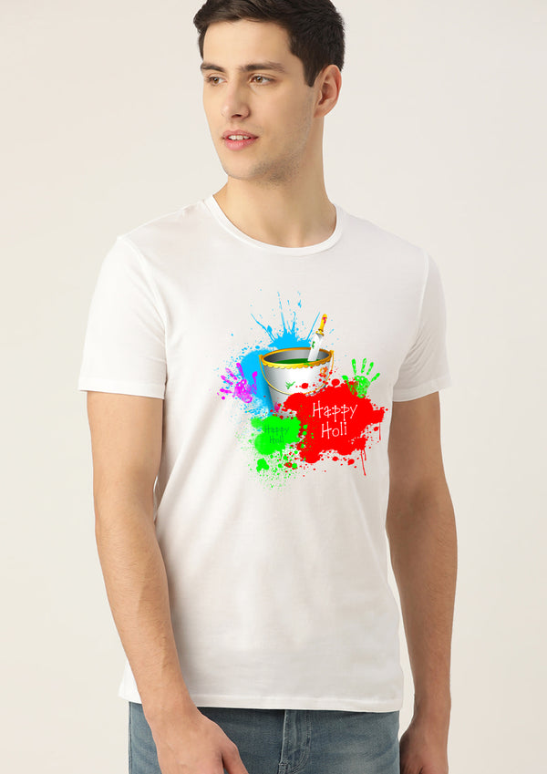 Men Holi Graphic Printed T-shirts