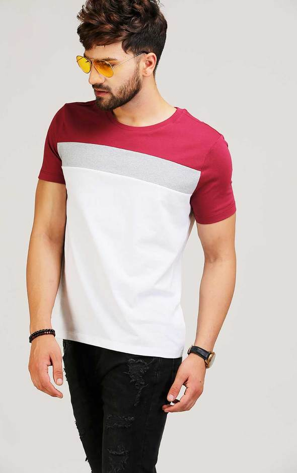 ROUND NECK STYLISH T SHIRT