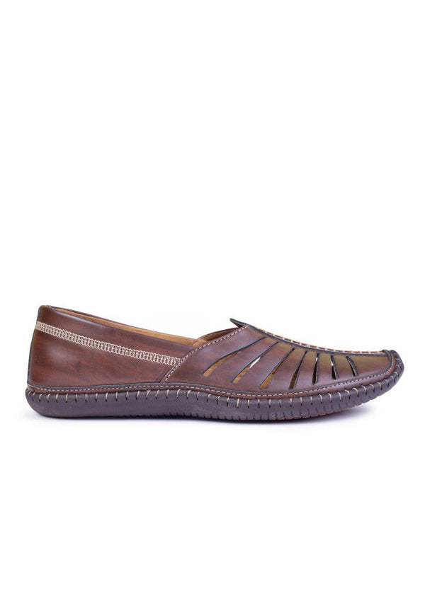 Kolhapuri  Mojaris For Men(Brown)