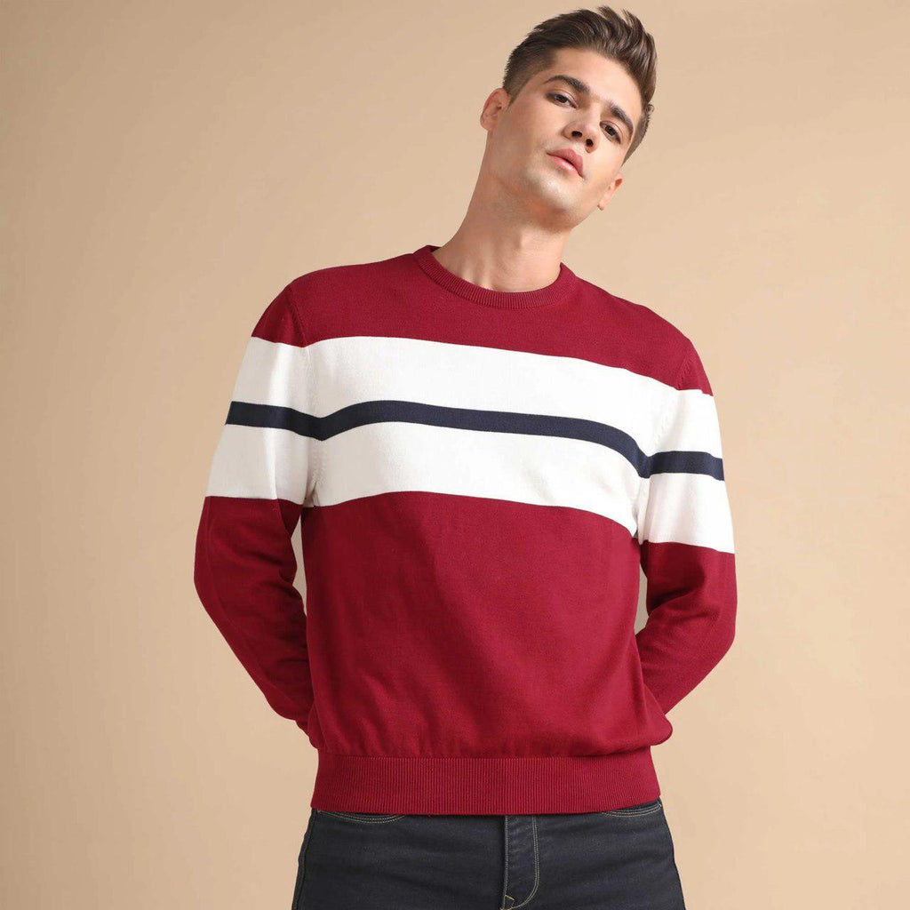 Men Felix Maroon Full sleeve T shirt