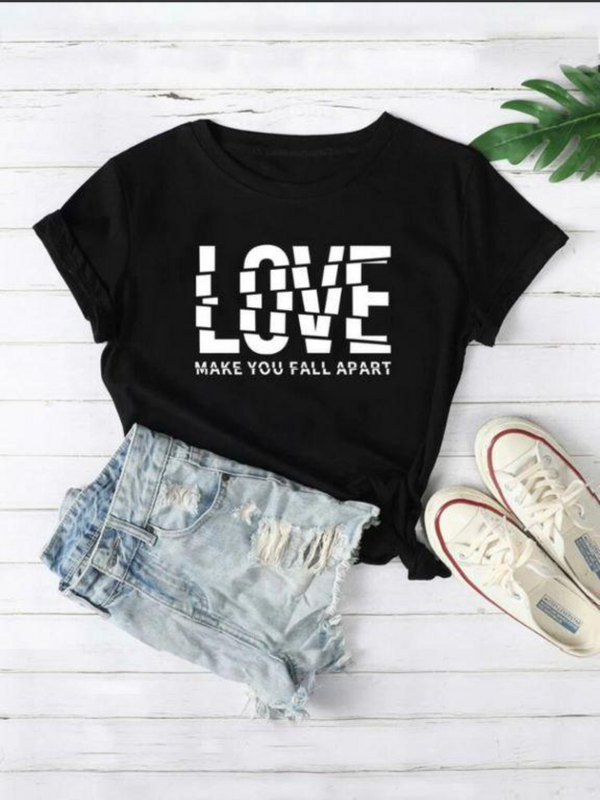 SCATTERED LOVE GRAPHIC T-SHIRT FOR  WOMEN