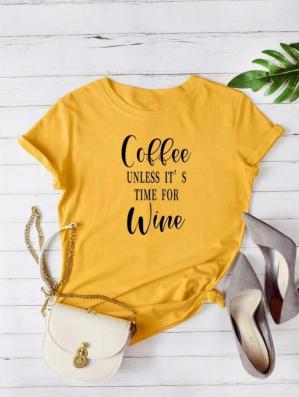 COFFEE LOVER GRAPHIC T-SHIRT FOR  WOMEN